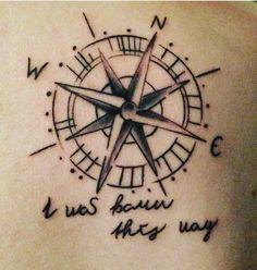 Kompass - I was born this way  #shoulder #firsttattoo