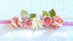 Felt Flower Crown // Mini Crown // Blush Pale by fancyfreefinery