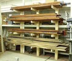 Résultat d'images pour Lumber Storage Rack Plans Lumber Storage Rack, Lumber Rack, Wood Rack, Stair Storage, Built In Storage, Tool Storage, Coaster Furniture, Wood Furniture, Furniture Ideas
