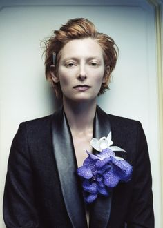 I love the way her hair is short and full at the same time | Tilda Swinton (as if it even needs mentioning)