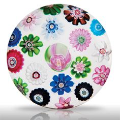 Antique Clichy spaced concentric millefiori paperweight.