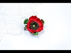 Making poppy of plastic suede. - YouTube