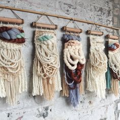 Weaving by Allyson Rousseau // wall hangings // yarn art Weaving Textiles, Weaving Art, Tapestry Weaving, Loom Weaving, Hand Weaving, Tapestry Wall, Weaving Wall Hanging, Wall Hangings, Deco Originale