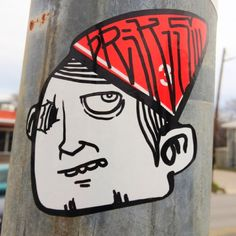 #bRiKS sticker in front of CVS on 30th and Guadalupe. #streetart #sticker