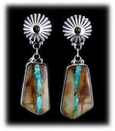 Pilot Mountain Ribbon Turquoise Earrings