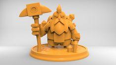 Dwarf - Character modeling practice, Alexis Dumortier on ArtStation at https://www.artstation.com/artwork/13WK3