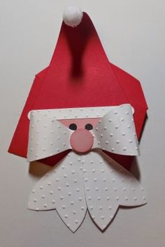 #370 Santa Claus Gift Card Holder ............. isn't he cute! See my post for tutorial and supplies.