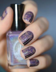 dry brush nails (mercy enchanted polish, kiko 05, mermaid EP)