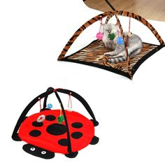 Isn't this cute?  Pet Cat Bed Toys ...  come and check it out at http://happycatmeow.com/products/pet-cat-bed-toys-mobile-activity-playing-bed-toys-cat-bed-pad-blanket-house-pet-furniture-cat-tent-toys?utm_campaign=social_autopilot&utm_source=pin&utm_medium=pin