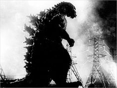 Part antinuclear fable, part sci-fi, Godzilla set the bar for outsized monster movies. Godzilla awakens from a nap and terrorizes Tokyo. Scariest Monsters, Cool Monsters, Famous Monsters, Classic Monsters, King Kong, Old Posters, Movie Posters, Giant Monster Movies, Godzilla Wallpaper