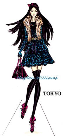 '#Hayden Williams Fashion Illustrations City Style' by Hayden Williams: Tokyo