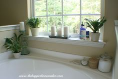Decorating Around A Bathtub The Happier Homemaker fresh gallery home design from detail page, glubdubs. Modern-bathroom : Decorating Around A Bathtub The Happier Homemaker available Resolution : Pixel. Master Bathroom Tub, Bathroom Tub Shower, Modern Bathroom, Bathroom Ideas, Bathtub Ideas, Bathroom Makeovers, Minimalist Bathroom, Bathroom Organization, Bathroom Designs