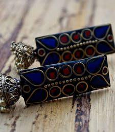 Buy khoobsurat blue laakh jhumka online