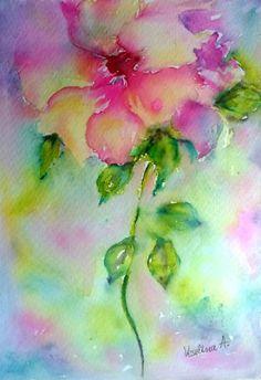 Décor de chambre fille, art mural lumineux, art mural chambre d'enfant, crèche mur imprimé fleur exotique, fleur floral print, aquarelle, aquarelle florale