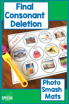 Make speech therapy smashing fun with these word smash mats that have real photographs. Each worksheet in the set of … Preschool Speech Therapy, Articulation Therapy, Speech Therapy Activities, Speech Language Pathology, Speech And Language, Articulation Activities, Language Activities, Final Consonant Deletion, Play Therapy Techniques