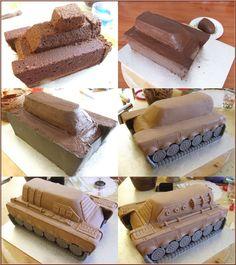 Army Tank Cake, Army Cake, Cake Decorating Techniques, Cake Decorating Tips, Cookie Decorating, Army Birthday Cakes, Army's Birthday, Camouflage Cake, Funny Cake