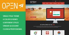 OPEN - Single Page Multi-purpose PSD Theme by bigpsfan OPEN is a unique, clean & modern creative Single Page PSD Template. It¡¯s Ideal for any creative studio or for portfolio. The psd f
