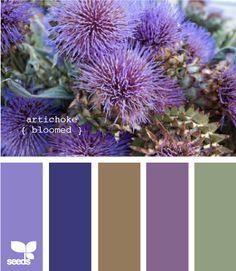 color palette - artichoke bloomed