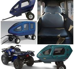 Omg this is a real thing?! I NEED this! Utv Accessories, Motorcycle Trailer, Quad Bike, Bug Out Vehicle, Four Wheelers, Polaris Ranger, Mini Camper, Go Kart, Atv Trailers