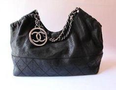 Chanel Black Coco Cabas Tote Bag