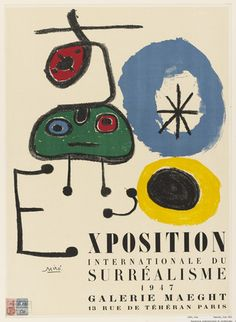 Joan Miró Poster: Exhibition Internationale du Surréalisme (1947).