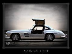 "300SL ""Gullwing"" on the tarmac at El Toro"