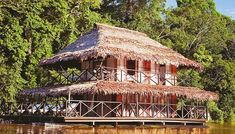 Reservas y Parques Naturales en el Amazonas Colombiano Areas Protegidas, Gazebo, Outdoor Structures, House Styles, Travel, Natural Resources, Natural Playgrounds, Kiosk