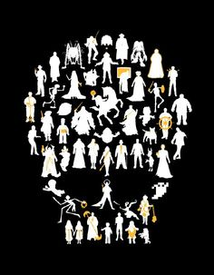 51 celebrated icons of the living dead. Including zombies, mummies, spirits, ghosts and various other forms of re-animated dead stuff! $25 #undead #zombie #ghost #spirit #skull #tshirt #horror #films #movies #icons #Supermarkethq