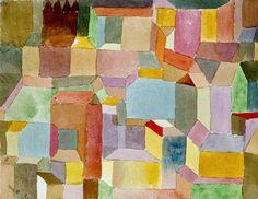 Mittelalterliche Stadt, 1915 by Paul Klee. Massive range of art prints. Quality UK framing & Money Back Guarantee! Mondrian, Kandinsky, Paul Klee Art, Franz Marc, Pin Art, Modern Artists, Teaching Art, Illustration Art, Artsy