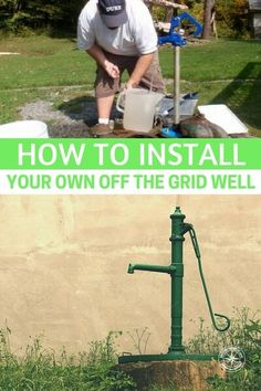 How to Install Your Own Off Grid Well - Water is the most essential thing we need for life. With out water we will die within 3 days. Knowing how to install a water well is vital if not the most essential knowledge we could ever have stored in our brain. Survival Life Hacks, Survival Prepping, Emergency Preparedness, Survival Skills, Survival Quotes, Survival Videos, Emergency Preparation, Emergency Supplies, Survival Equipment