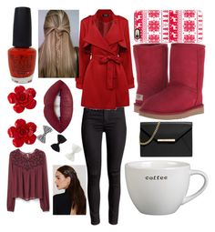 """Seasonal!!!! Winter 1"" by lexxmarie00 on Polyvore featuring Casetify, OPI, UGG Australia, Chanel, MANGO, MICHAEL Michael Kors, Crate and Barrel, NOVA and Accessorize"