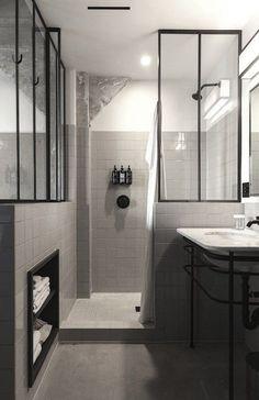 Monochrome bathroom at Ace Hotel