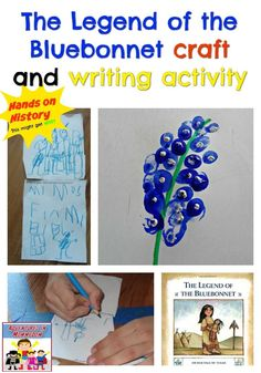 Legend of the Bluebonnet craft and writing activity 4th Grade Social Studies, Social Studies Classroom, Social Studies Activities, Teaching Social Studies, Hands On Activities, Writing Activities, Spring Activities, Educational Activities, Pre-school Books