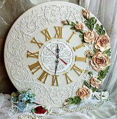 """Часы для дома ручной работы. Ярмарка Мастеров - ручная работа. Купить часы настенные """"Пробуждение"""". Handmade. Голубой, часы для дома"""