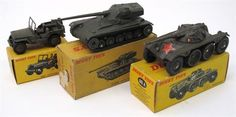 Lot 266 – Three French Dinky Military Vehicles 80A Panhard E.B.R Armoured Car, in good condition, red star added, with a good box, 80C A.M.X Tank, in excellent condition, with a fair box and 816 Willys Jeep, in fair condition, bumper is broken on front in excellent box – Vintage and Collectible Toys 02 Apr 2014http://www.candtauctions.co.uk/