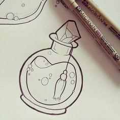 Image result for potion bottles drawing