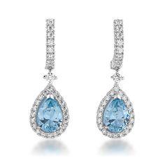 Blue wedding earrings. Pendientes para novia en tonos azules.
