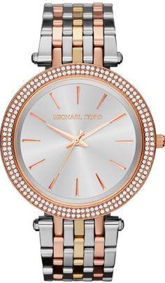 Michael Kors Ladies Watch silver / gold -rose-goldtone model Darci