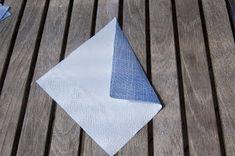 LILLE BLÅ: Brette skjorte servietter =) Napkins, Towels, Dinner Napkins