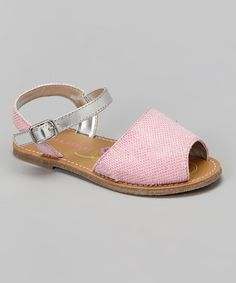 Another great find on #zulily! Pink & Metal Textured Sandal by Laura Ashley #zulilyfinds