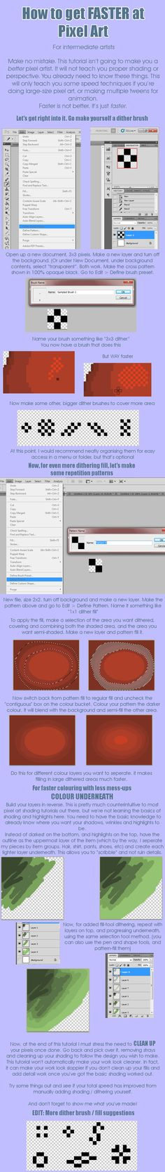 Tutorial: FASTER Pixel Art by ~Soprie on deviantART