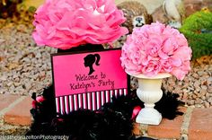 BARBIE PARTY  WELCOME Sign  Girls Birthday Party by KROWNKREATIONS