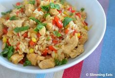 slimmimg world Chicken, Red Pepper and Sweetcorn Risotto