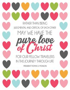 October: Christlike Love: All Things Bright and Beautiful: Young Women:  several more handouts