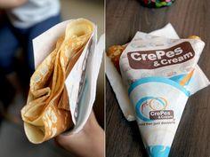 Crepes and Cream Kani Mango Resorts World Manila, Crepes, Just Desserts, I Foods, Cravings, Mango, Snack Recipes, Shots, Favorite Recipes