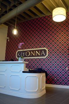 via belle maison: Current Project: Kiyonna Corporate Headquarters/ reception lobby designed by Julie Thigpen
