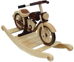 Classic Motorcycle Rocker can be made of pine and walnut for a knockout style…