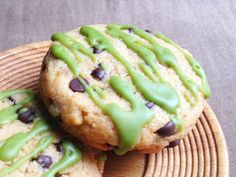 Wholly Vegan: Lima Bean Chocolate Chip Cookies with Green Tea Glaze