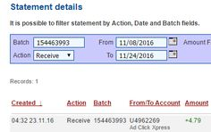 If you are a PASSIVE INCOME SEEKER, then AdClickXpress (Ad Click Xpress) is the best ONLINE OPPORTUNITY for you.I WORK FROM HOME less than 10 minutes and I manage to cover my LOW SALARY INCOME. Here is my Withdrawal Proof from AdClickXpress. I get paid daily and I can withdraw daily. Online income is possible with ACX, who is definitely paying.