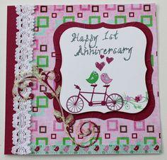 fizzi~jayne makes.... 1st Anniversary card.  custom order